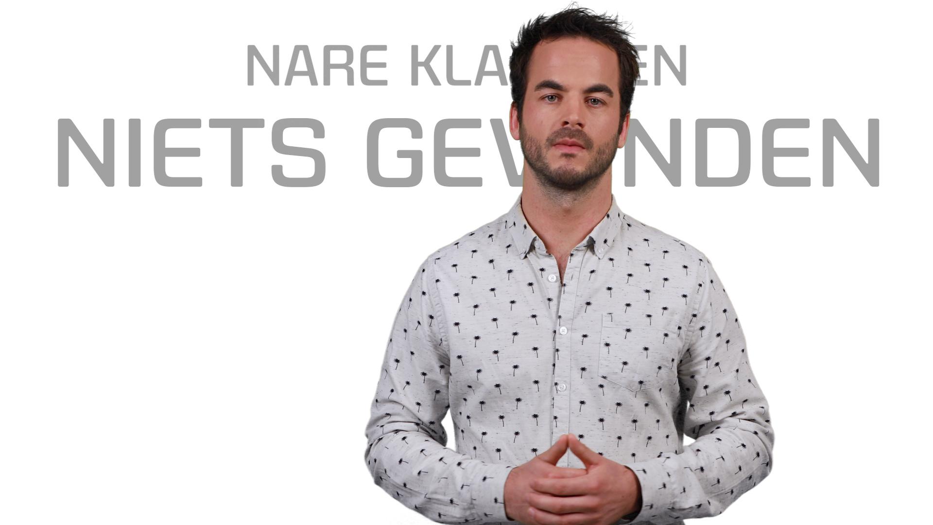 Bekijk de video: Nare Klachten, niets gevonden